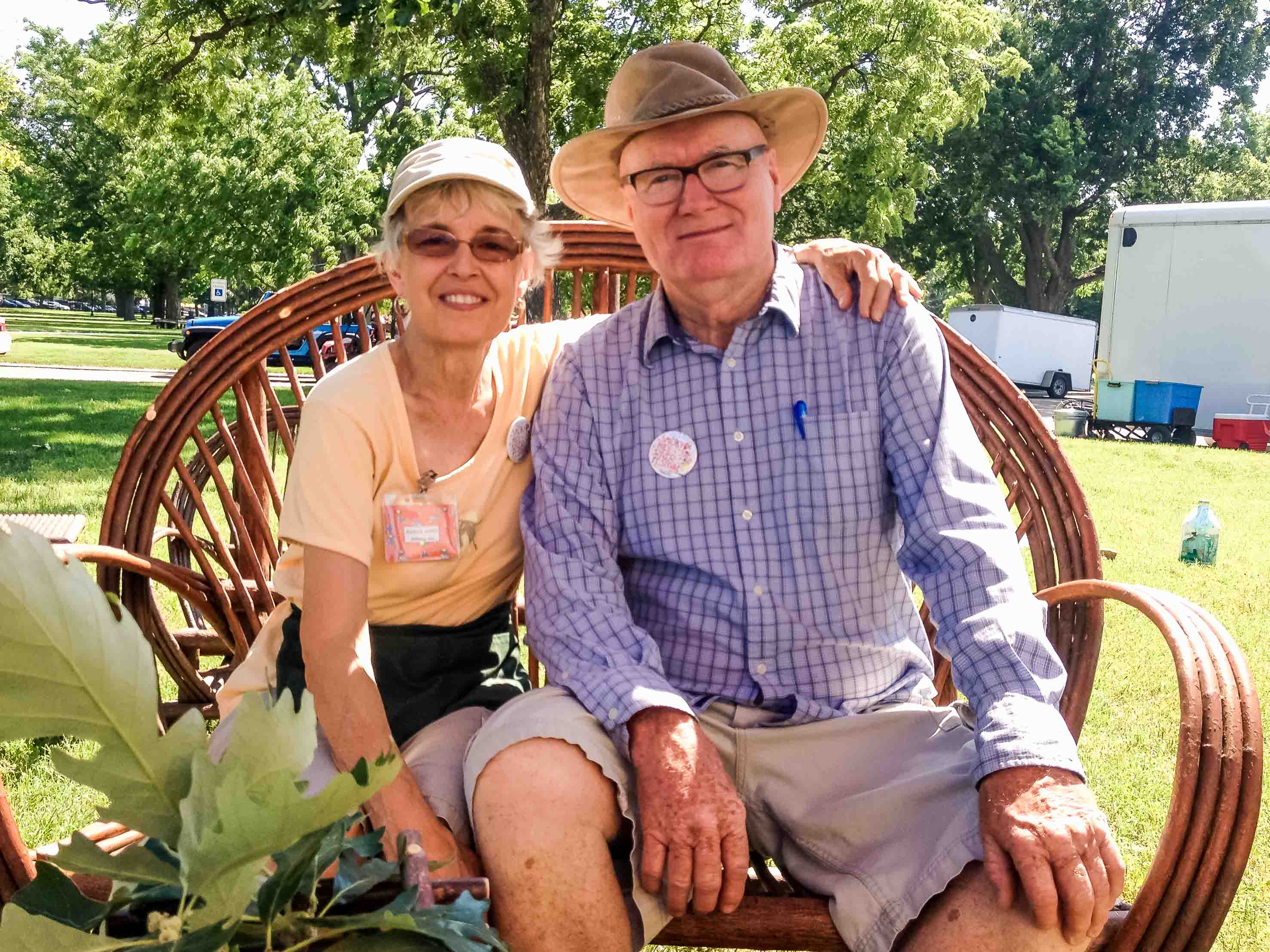 Marcia and John Witt make beautiful willow chairs for sale