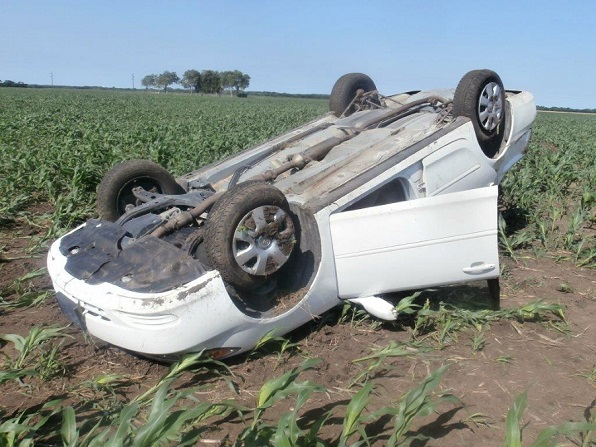 Two Hurt in Rollover Crash