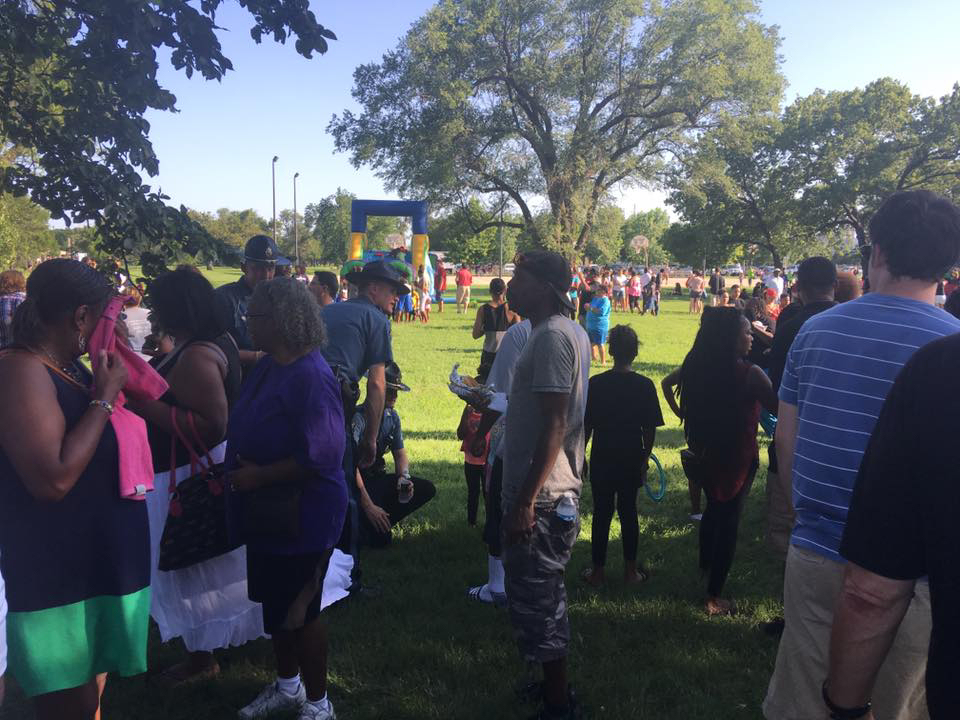 Wichita Police Gather at BBQ With Community