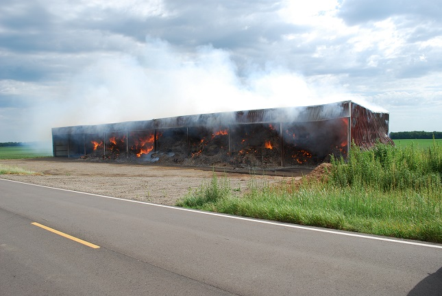 Over $340,000 Loss in Hay Fire