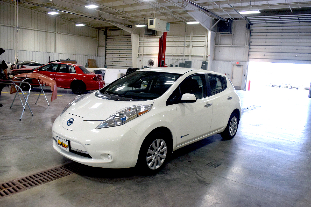 The new Nissan Leaf (Salina Technical College photo)