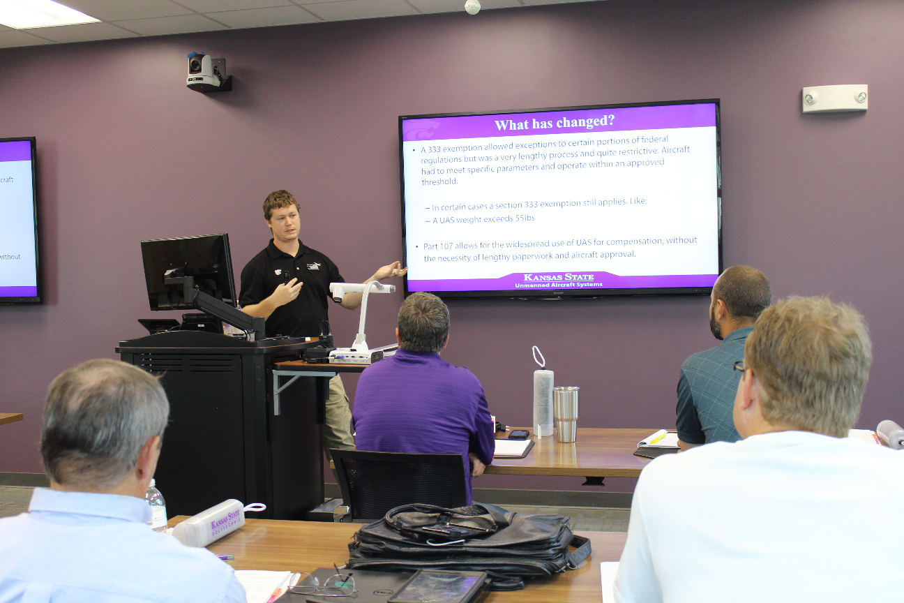 Weeklong UAS Course Offered by KSU in Salina