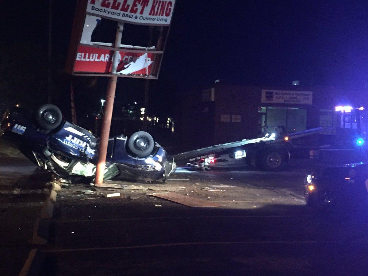Deputy Crashes During Chase
