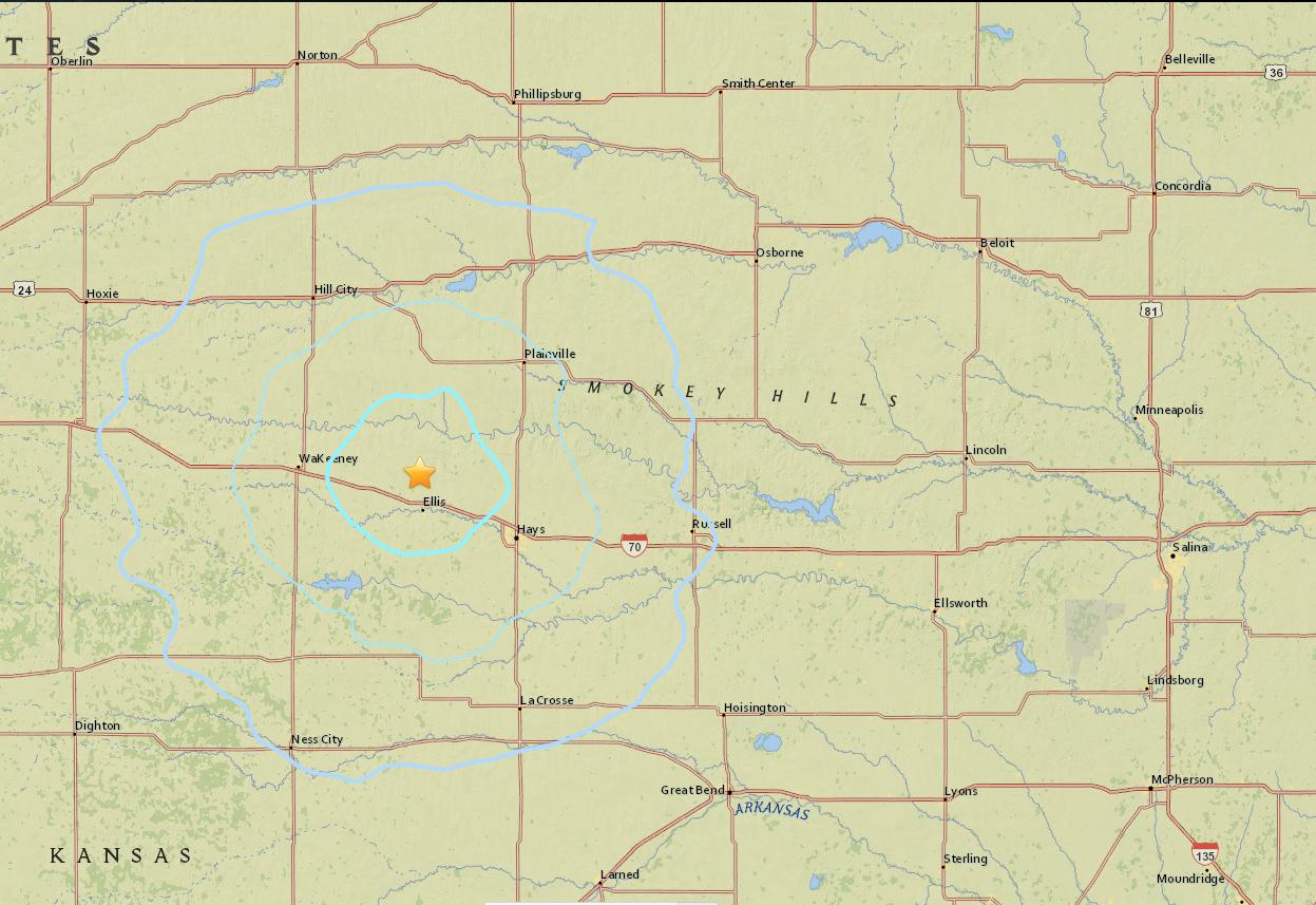 Earthquake Shakes North Central Kansas