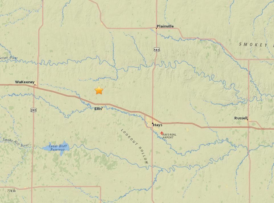 3 Overnight Earthquakes Near Ellis
