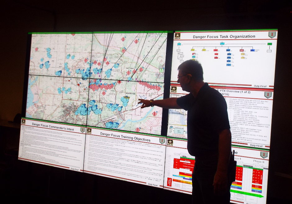 "Fort Riley utilizes networked ""Danger Focus Training""."
