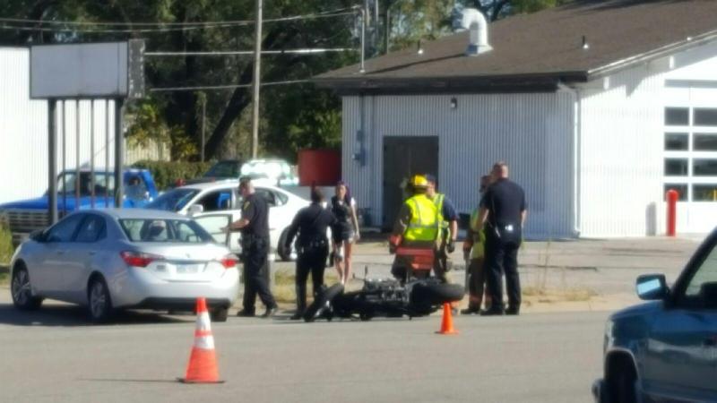 Motorcycle Rider Hurt in Crash