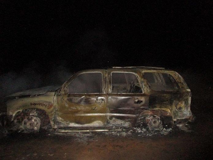 SUV Lost in Arson Fire