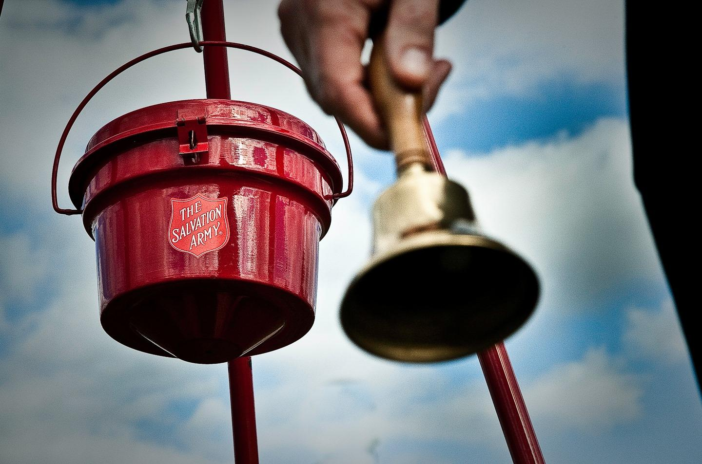Salvation Army Enlisting Bell Ringers