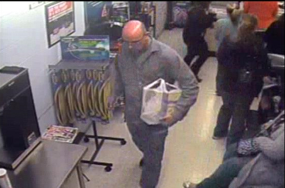 Suspected Thief Caught on Camera