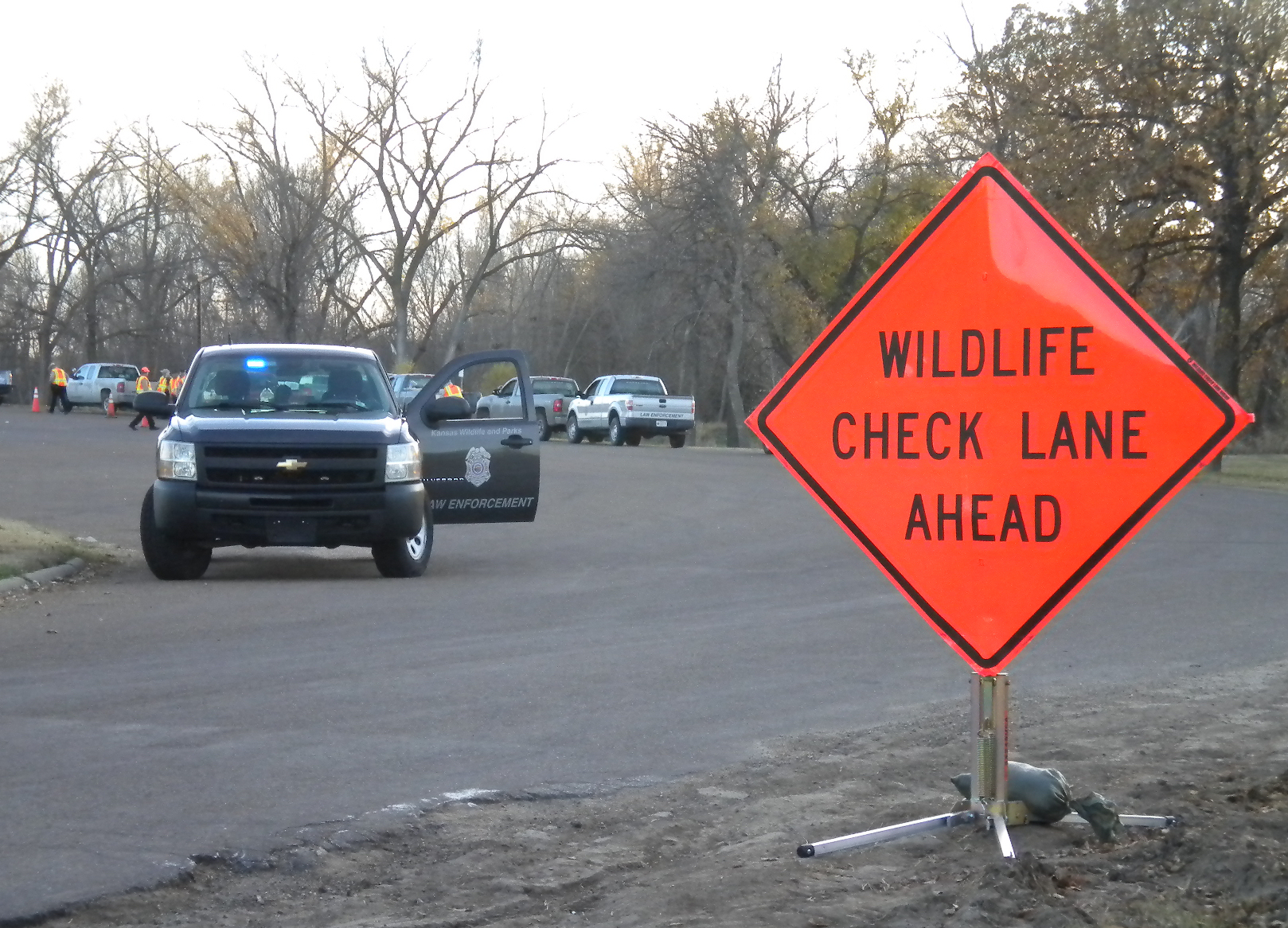 Officers Mobilizing For Wildlife Checkpoints