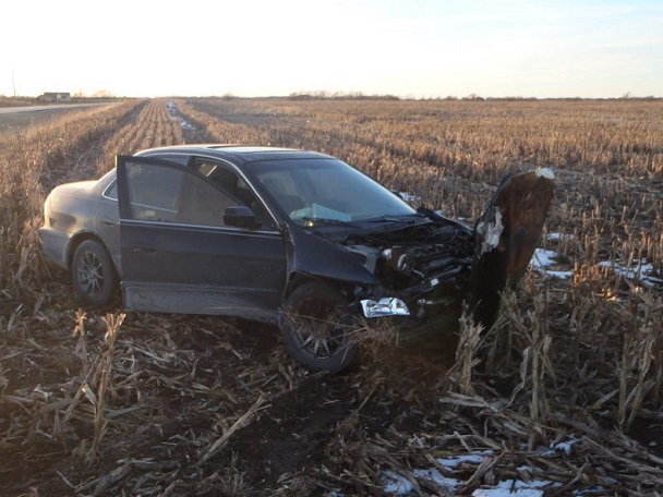 Hutch Man Hurt in 2 Car Crash