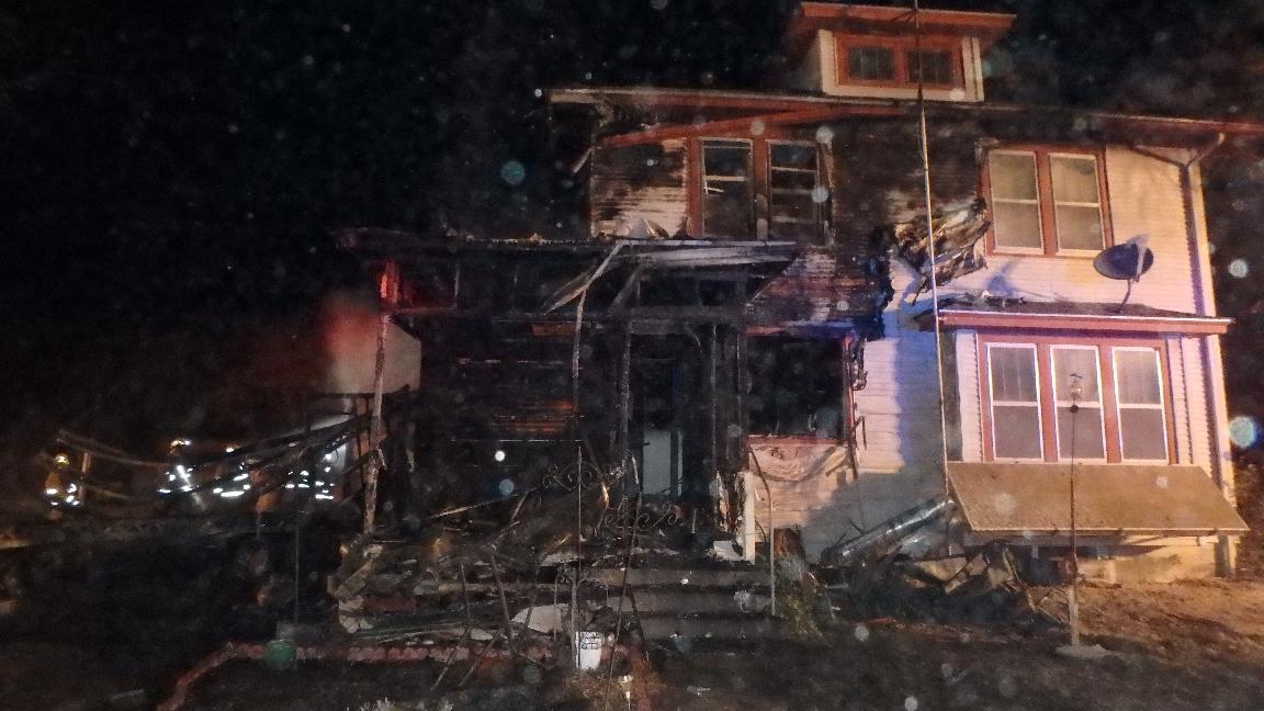 Fire Guts Home Near Assaria