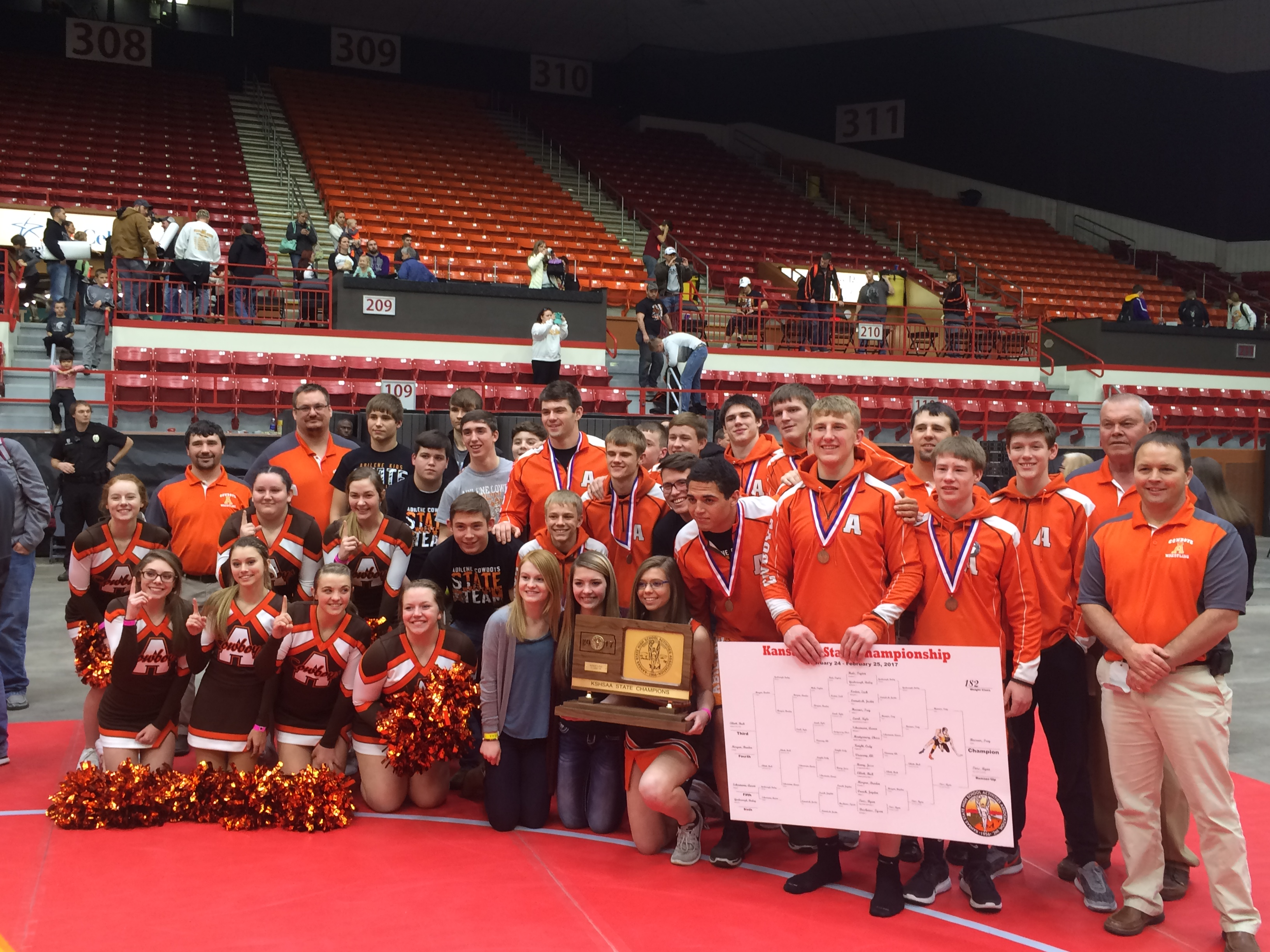 Abilene Cowboys Win 4A State Wrestling Title
