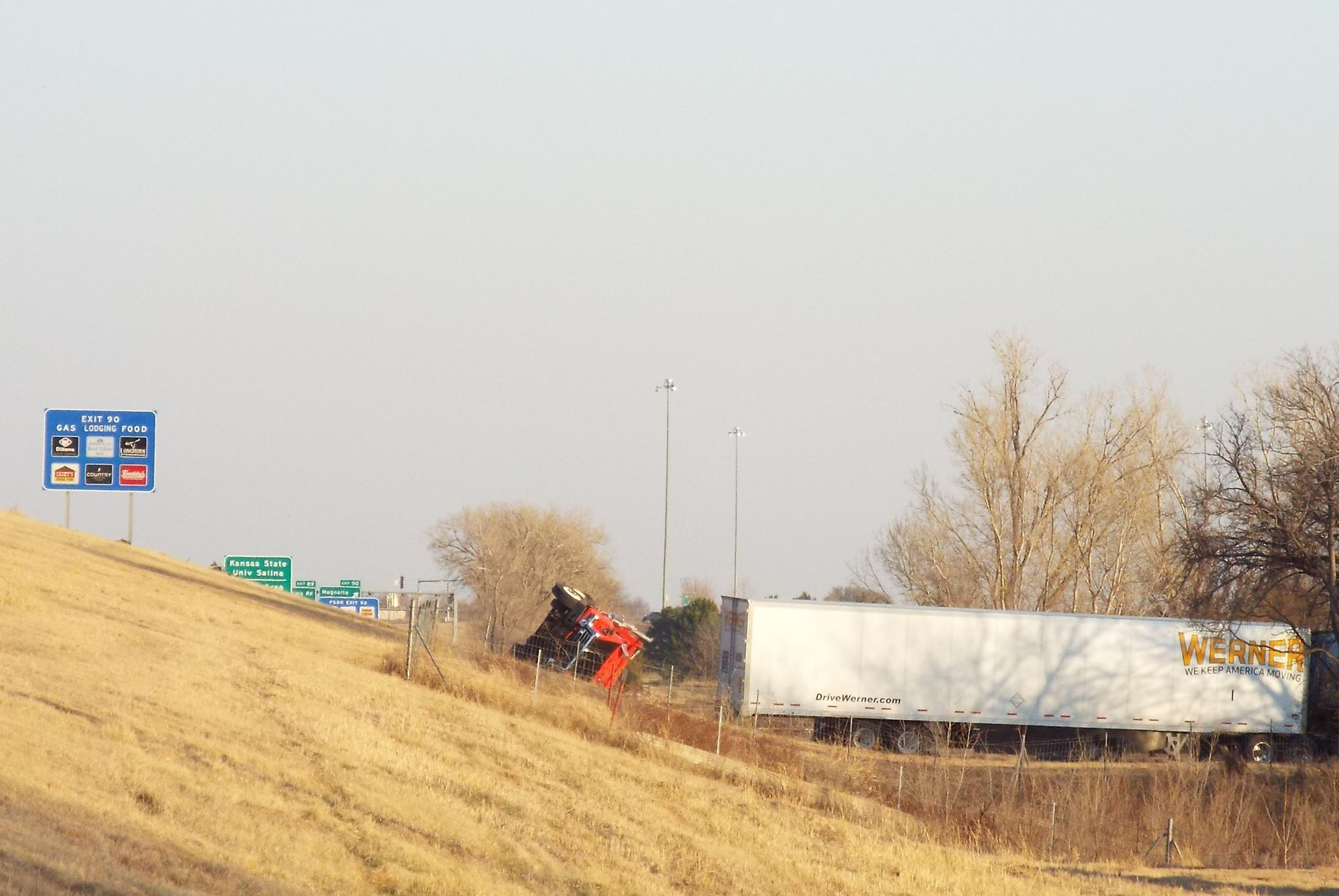 Update: 2 Killed, Transportation Worker Hurt in Salina Crash