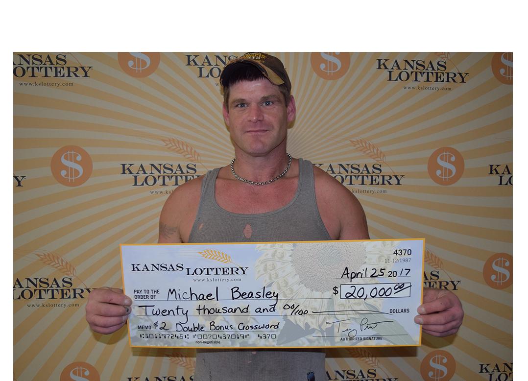 Salina Man Wins $20,000 Lottery prize