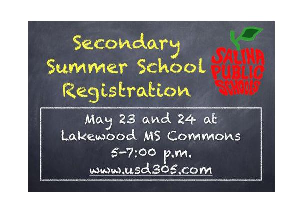 Summer School Registration Scheduled