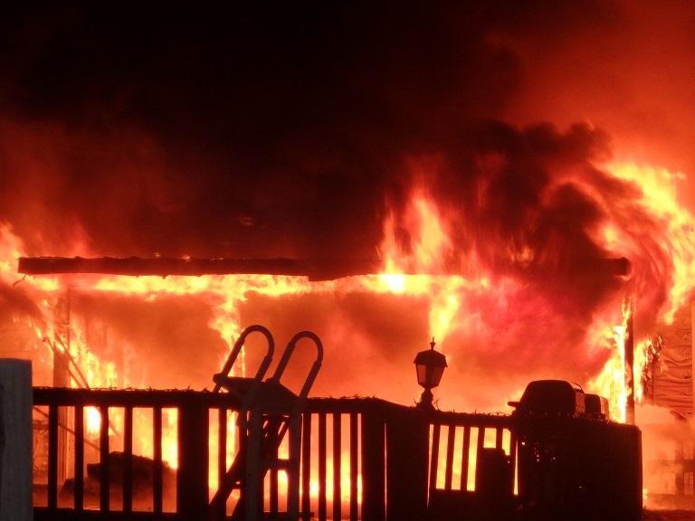 Fire Destroys New Cambria Home
