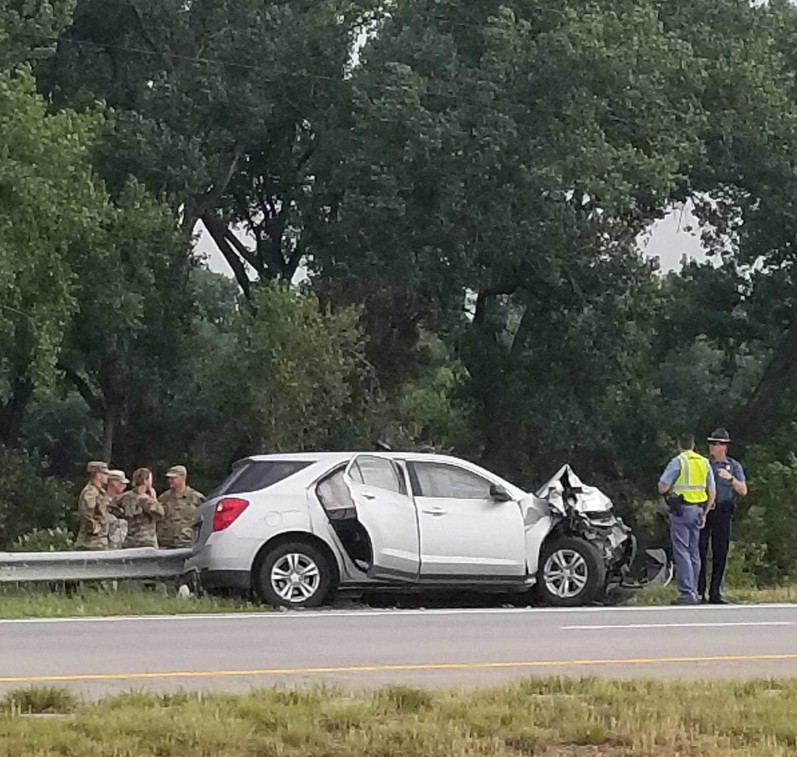 3 Hurt In Crash Involving Military Vehicle