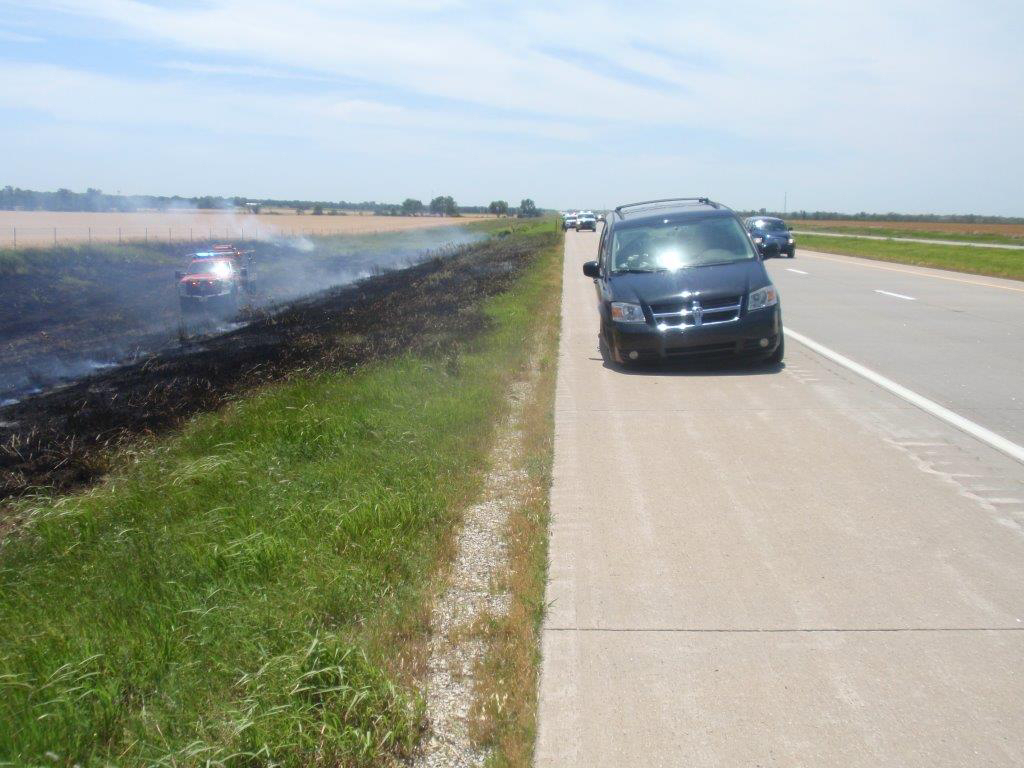 Car Accident Causes Damage to Unharvested Wheat Field