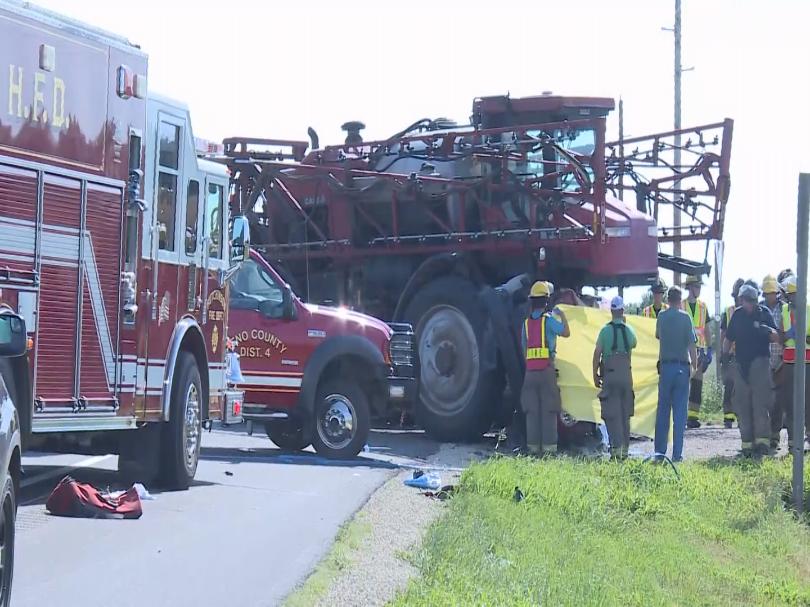Woman Killed in Crash With Farm Sprayer