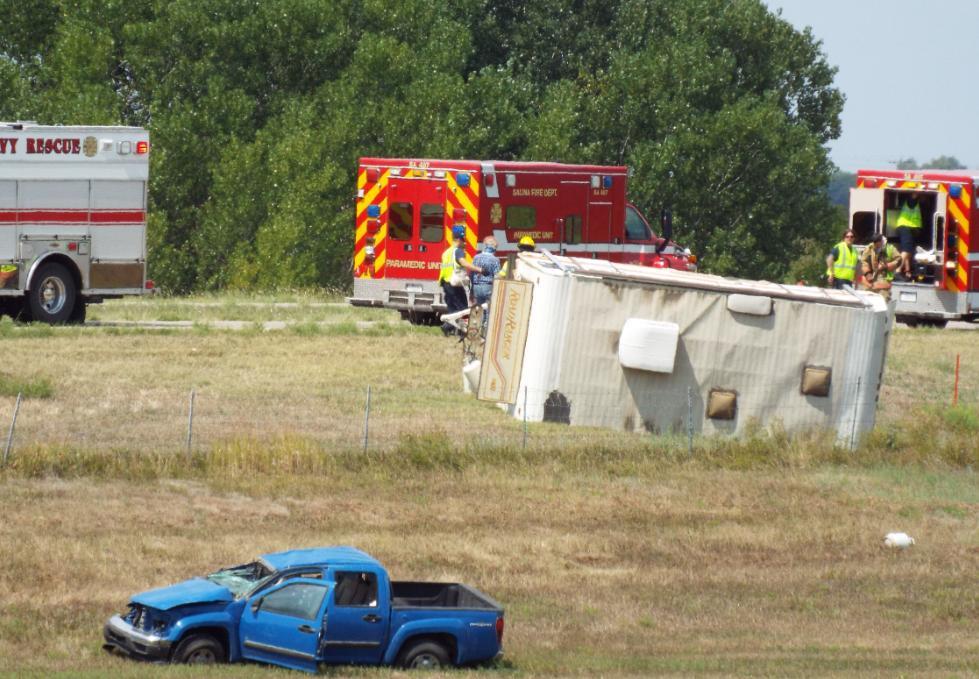 UPDATE: Interstate Closes After Truck, Camper Roll