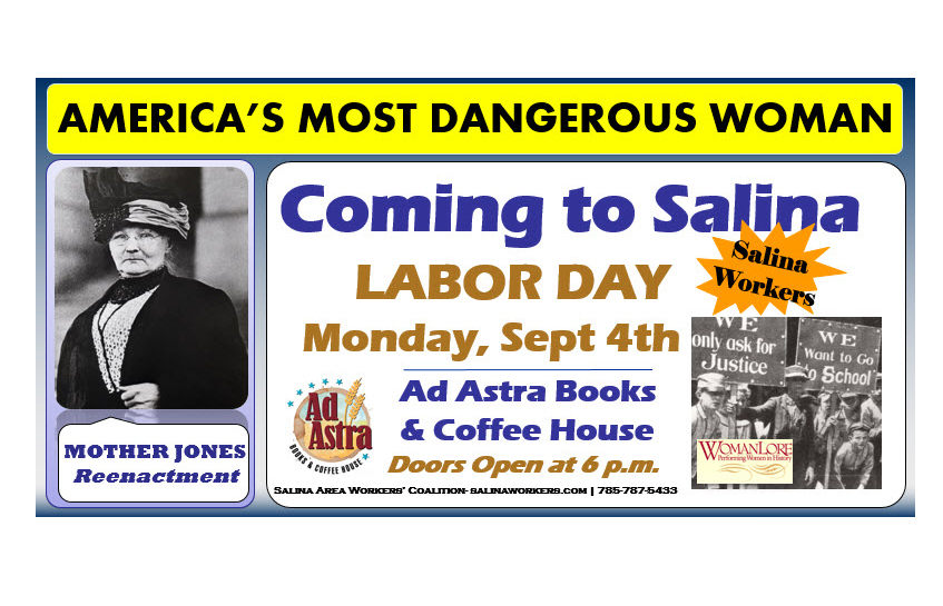 "Salina to Host ""America's Most Dangerous Woman"""