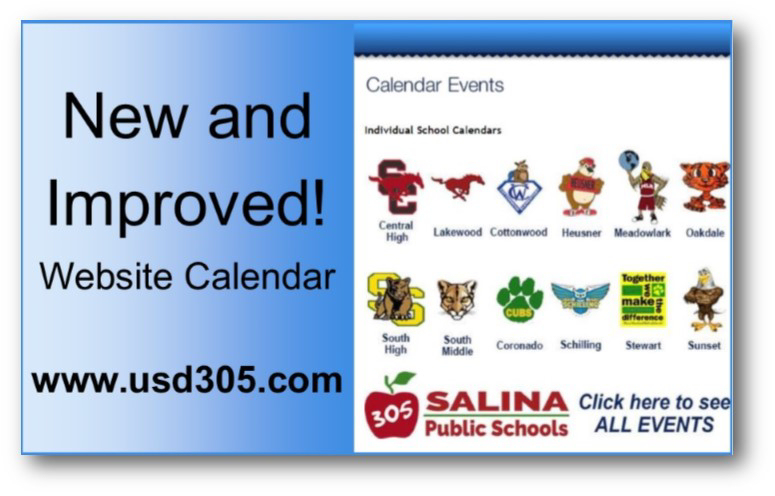 USD 305 Introduces Improved Website Calendar