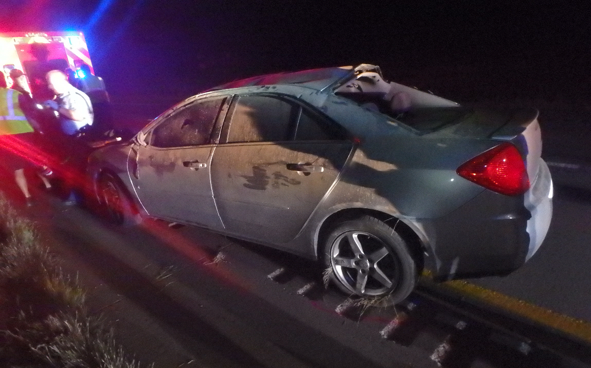 Roll Over Accident Sends Salina Man to Hospital