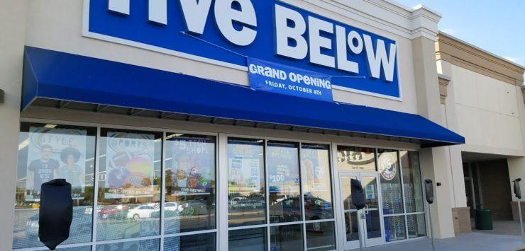five below opens in salina friday