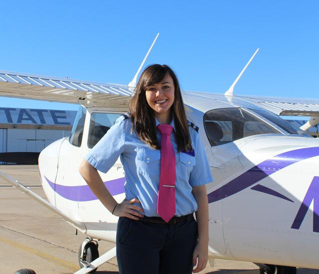 First-Ever Female Flight Team Captain