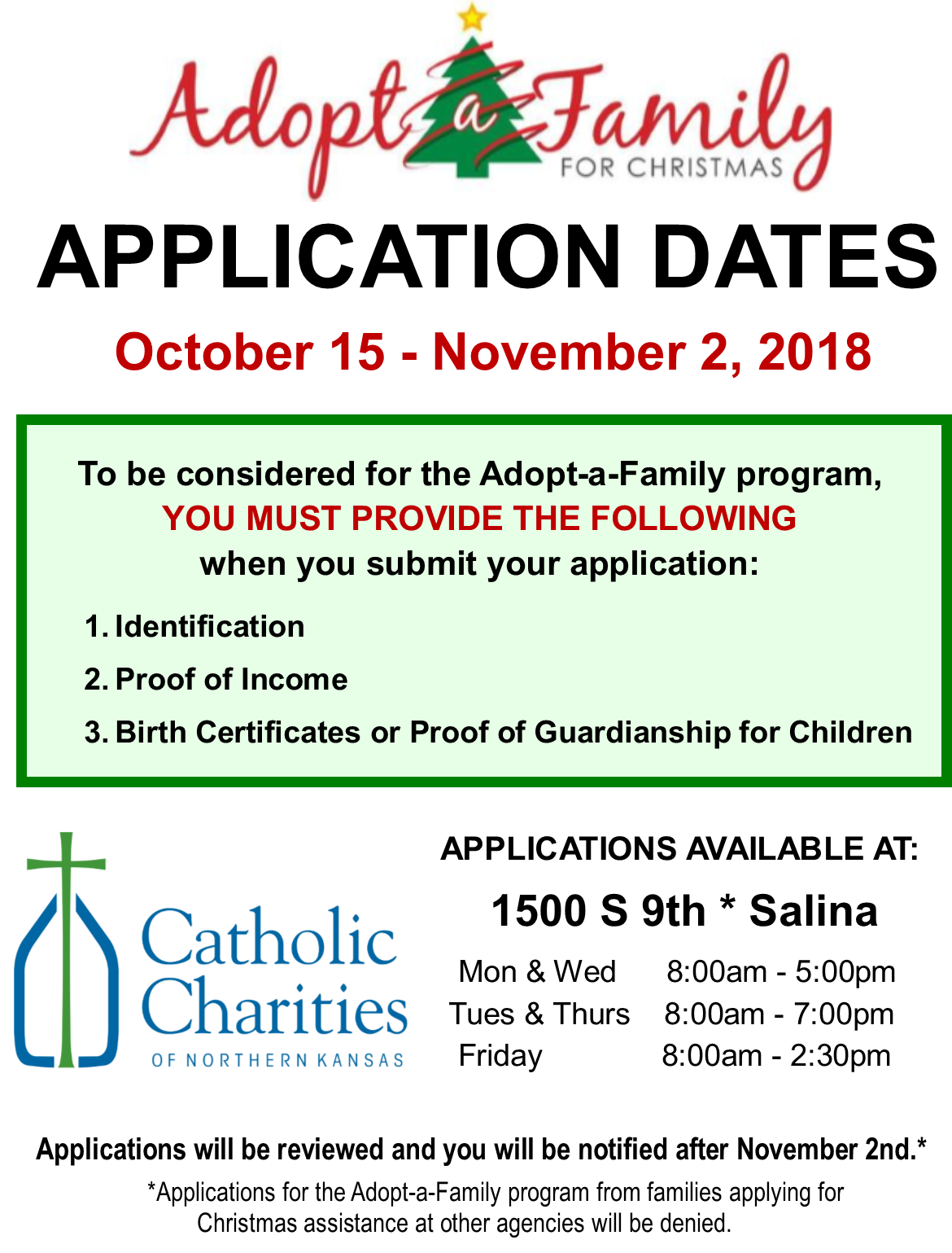 Adopt A Family For Christmas.Application Deadline Nears For Adopt A Family For Christmas