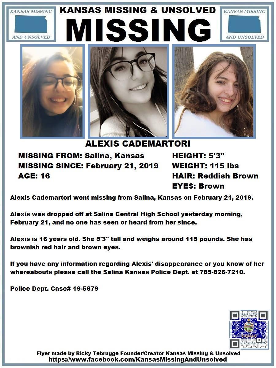 Salina Teen Missing
